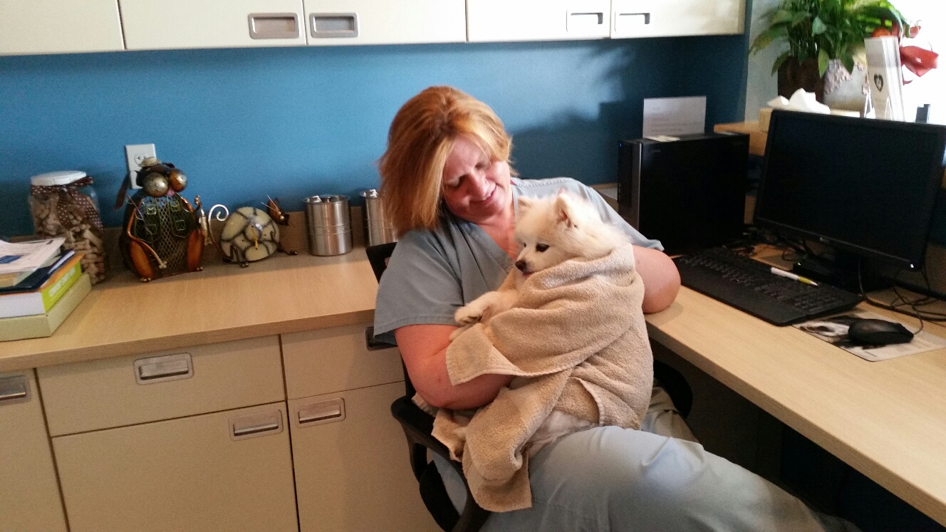 Our sweet Nurse Wendy is always there to snuggle patients when needed.